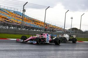 Sergio Perez, Racing Point RP20, George Russell, Williams FW43