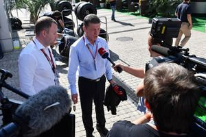 Dmitry Kozak, Deputy Prime Minister of the Russian Federation talks with the media