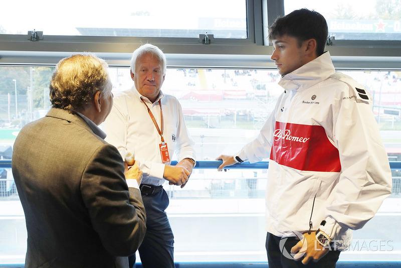 Charlie Whiting, Jean Todt, Presidente de la FIA, Charles Leclerc, Sauber F1 Team