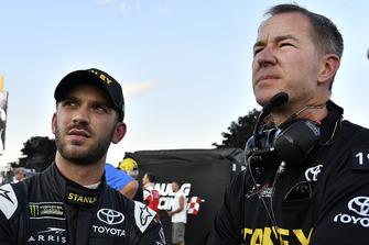 Daniel Suarez, Joe Gibbs Racing, Toyota Camry STANLEY abd Scott Graves
