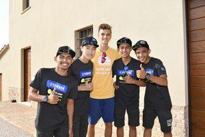 Para peserta Yamaha VR46 Master Camp edisi keenam dan Luca Marini