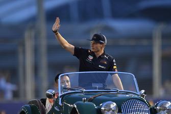 Max Verstappen, Red Bull Racing tijdens de rijdersparade