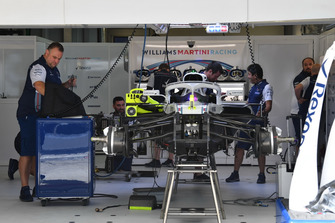 Williams FW41, nel garage