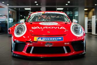 La Porsche GT3 Cup di Giovanni Berton, AB Racing, con la livrea storica
