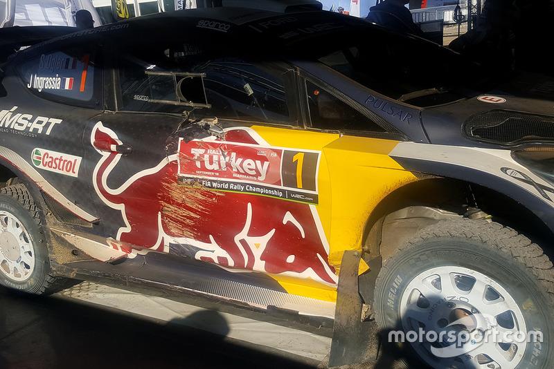 El coche de Sébastien Ogier, Julien Ingrassia, Ford Fiesta WRC, M-Sport