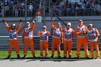 Marshals voor de race