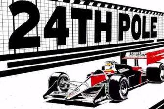Pole de Senna em Mônaco em 1988 vira anime em vídeo da Honda