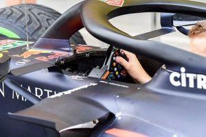 Steering wheel of Red Bull Racing RB15