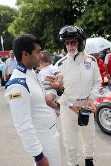 Karun Chandhok y Damon Hill