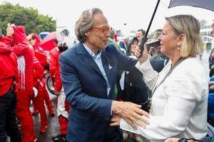 Lord March e Sabine Khem prima della celebrazione per Michael Schumacher