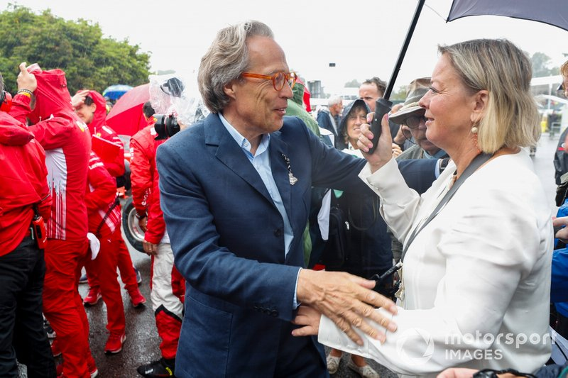 Lord March and Sabine Khem before the Michael Schumacher Celebration