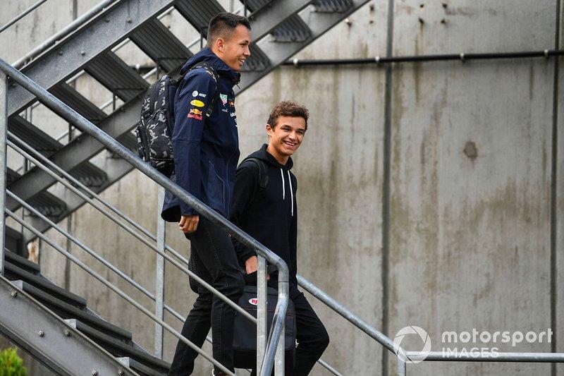 Алекс Элбон, Red Bull и Ландо Норрис, McLaren
