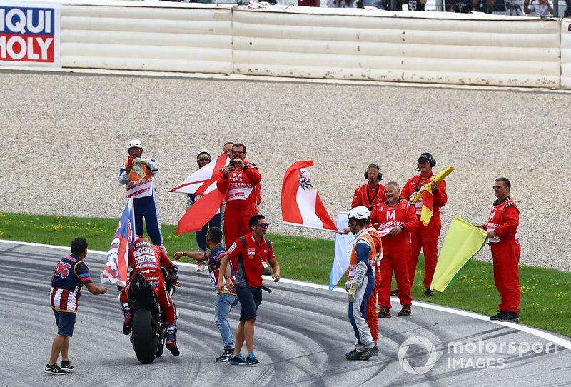 El ganador Andrea Dovizioso, Ducati Team