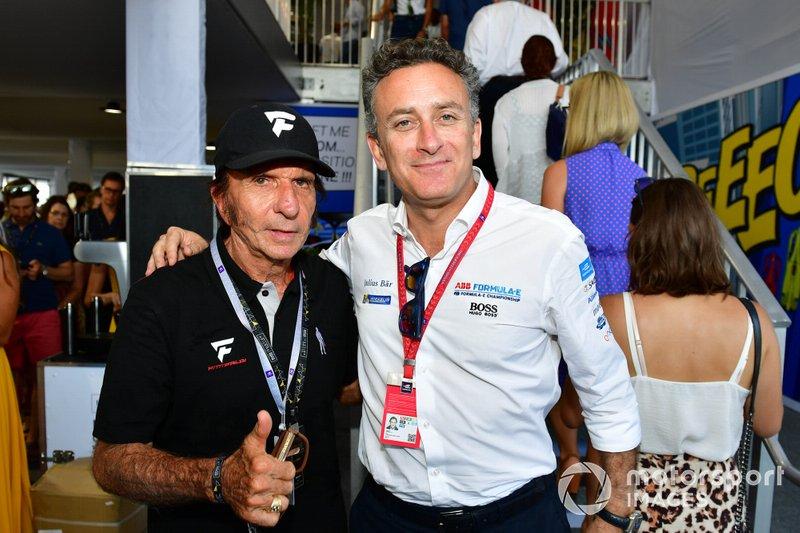 Emerson Fittipaldi with Alejandro Agag, CEO, Formula E
