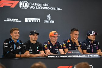 Press conference: George Russell, Williams Racing, Valtteri Bottas, Mercedes AMG F1, Max Verstappen, Red Bull Racing, Alexander Albon, Red Bull and Sergio Perez, Racing Point