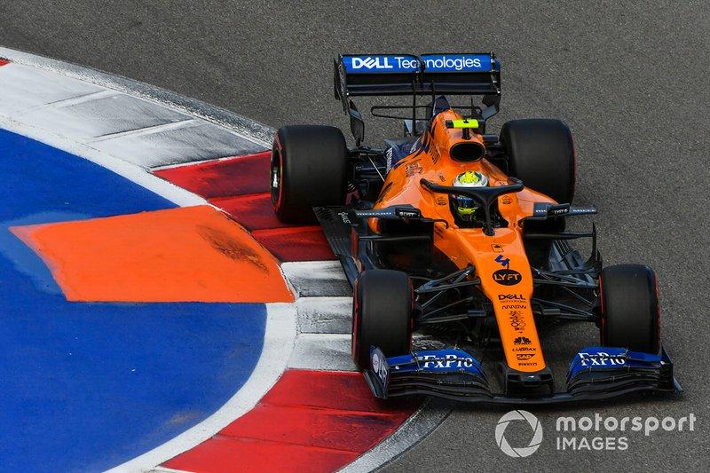 Norris acaba octavo en el otro McLaren