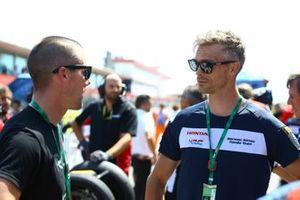 Leon Camier, Honda WSBK Team, mit Ben Spies