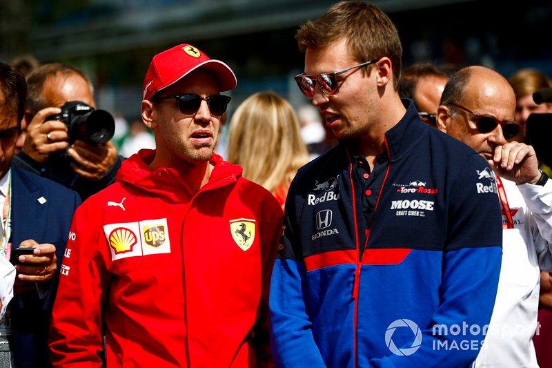 Sebastian Vettel, Ferrari y Daniil Kvyat, Toro Rosso