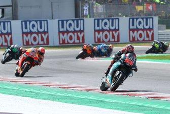 Fabio Quartararo, Petronas Yamaha SRT. Marc Marquez, Repsol Honda Team