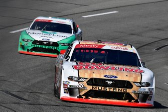 Cole Custer, Stewart-Haas Racing, Ford Mustang GoBowling and Austin Cindric, Team Penske, Ford Mustang MoneyLion