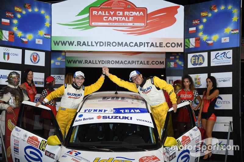 I vincitori Andrea Scalzotto e Daniele Cazzador, Suzuki Swift 1.6 Sport R1, Funny Team