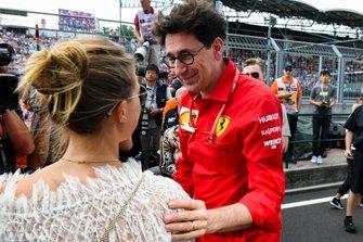 Gina-Maria Schumacher and Mattia Binotto, Team Principal Ferrari celebrating the F2 win of Mick Schumacher