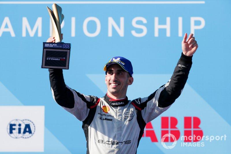 Sébastien Buemi, Nissan e.Dams festeggia la seconda posizione nel campionato sul podio