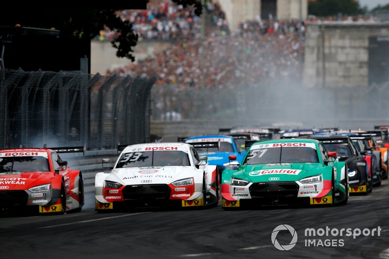 René Rast, Audi Sport Team Rosberg, Audi RS 5 DTM, Nico Müller, Audi Sport Team Abt Sportsline, Audi RS 5 DTM en la salida