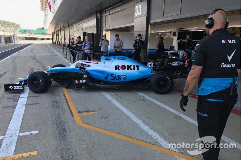 George Russell, Williams F1, Test Pirelli a Silverstone