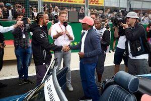 Lewis Hamilton, Mercedes AMG F1, avec son père Anthony