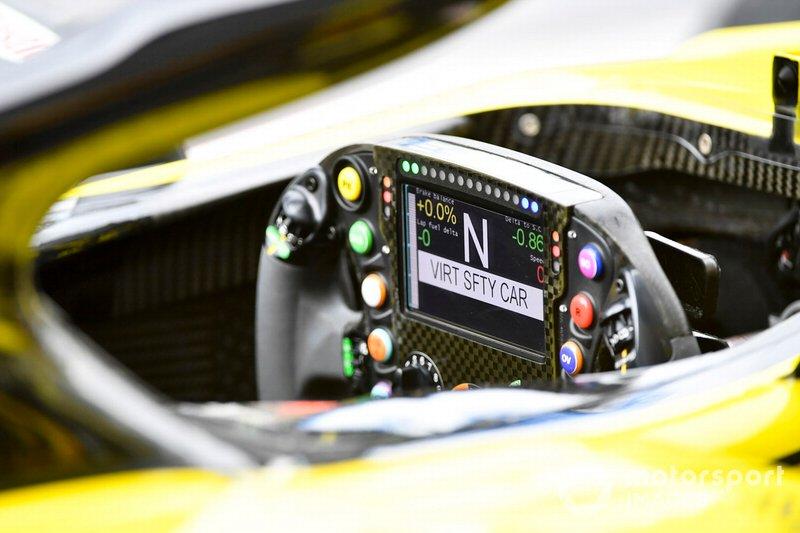 Volante del Renault R.S.19 de Nico Hulkenberg