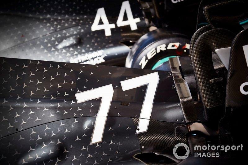 Auto di Lewis Hamilton, Mercedes AMG F1 W10 e Valtteri Bottas, Mercedes AMG W10