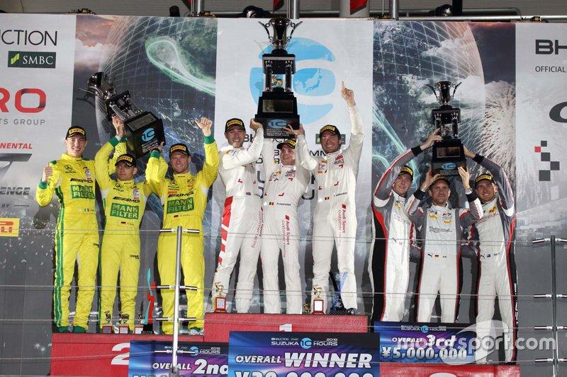 Podium | Audi Sport Team WRT, Mercedes-AMG Team GruppeM Racing, Absolute Racing