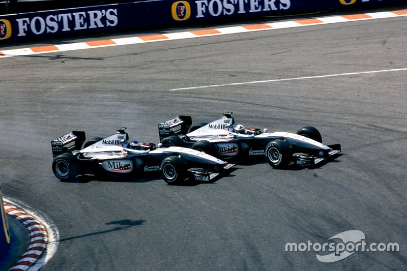 1999 Belçika GP, David Coulthard vs Mika Häkkinen, McLaren