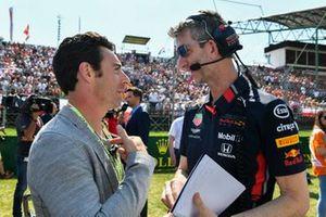 Indy 500-winnaar Simon Pagenaud op de grid