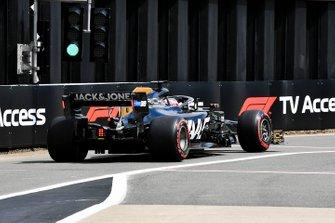 Romain Grosjean, Haas F1 Team VF-19, leaves the pits