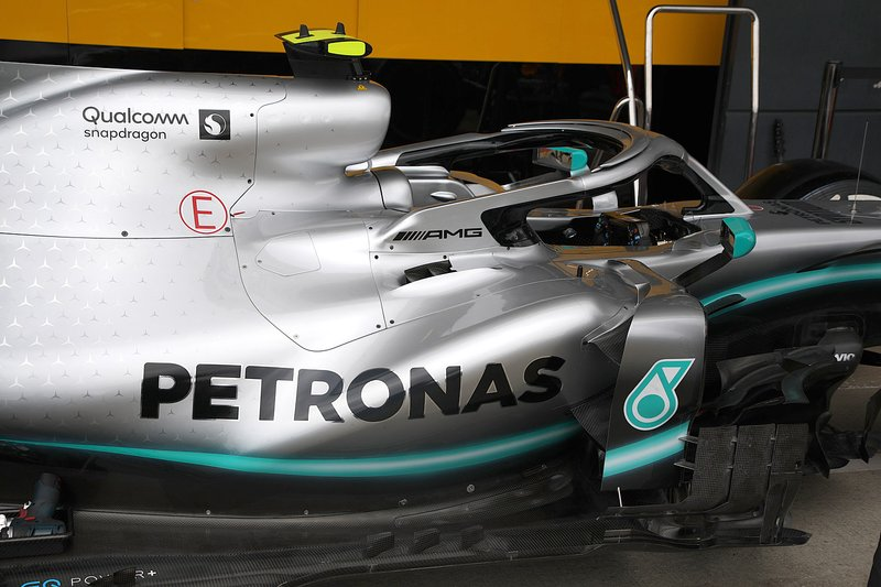 Mercedes AMG F1 W10 side detail