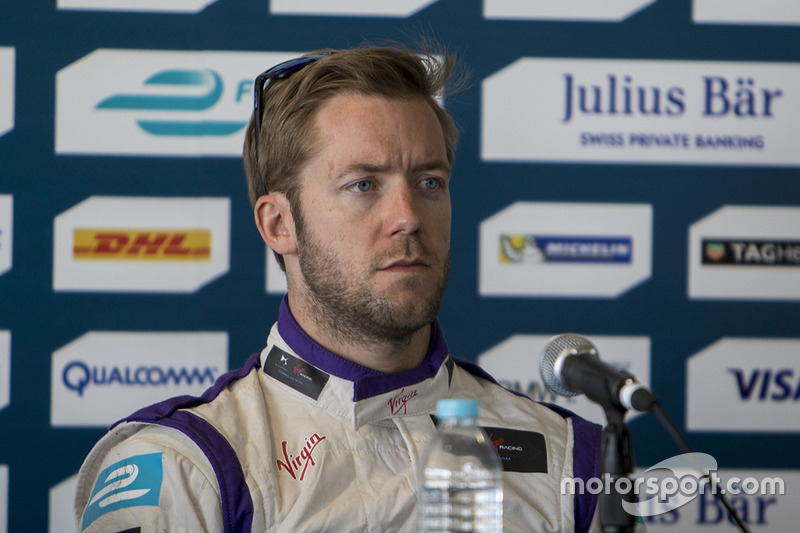 Sam Bird, DS Virgin Racing Formula E Team während der Pressekonferenz