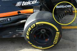 Détails de l'aileron arrière de la Force India F1 VJM09