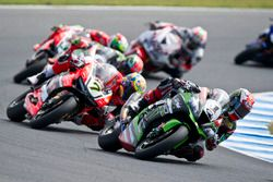 Jonathan Rea, Kawasaki Racing Team und Chaz Davies, Aruba.it Racing - Ducati Team