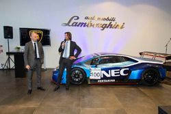 Giorgio Sanna, Lamborghini Head of Motorsport en Stéphane Ratel, CEO van SRO Motorsports Group