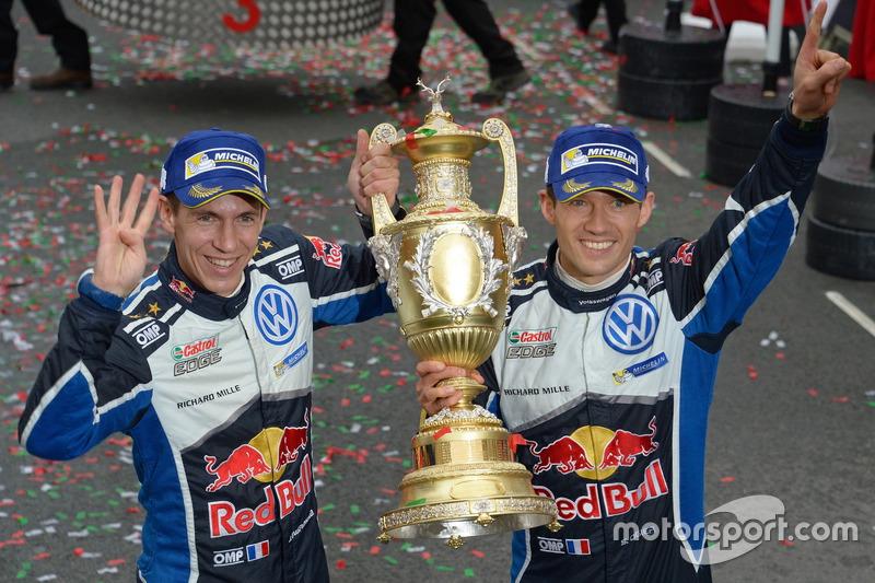 Sébastien Ogier y Julien Ingrassia, campeones del mundial de rallies (WRC) 2016