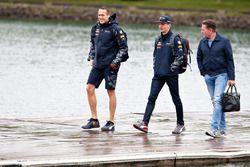 Max Verstappen, Red Bull Racing arrive au circuit avec son père Jos Verstappen
