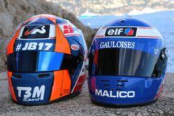 Casco de Norman Nato, Racing Engineering y Olivier Panis