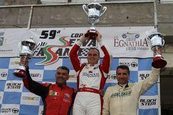 Il podio: da sinistra, Domenico Cubeda, Omar Magliona e Francesco Leogrande