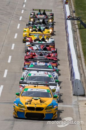 GTD cars lined up for qualifying