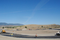 Area 27 track paving on turn 4