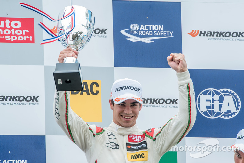 Podium, Lance Stroll, Prema Powerteam Dallara F312 - Mercedes-Benz