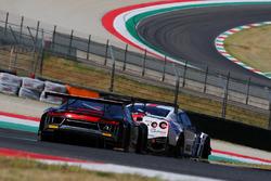 Audi R8 LMS #8, Mapelli-Albuquerque, Audi Sport Italia e Nissan Nismo GT3 #23, Bontempelli-Linossi,
