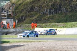 Crash, Colin Turkington, Subaru Team BMR and Rob Collard,Team JCT600 with GardX